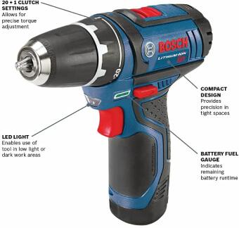 Bosch Power Tools Drill Kit-PS31-2A-12V